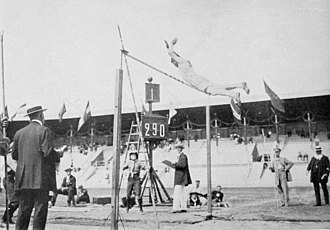 Athletics at the 1912 Summer Olympics – Men's decathlon - Jim Thorpe in pole vault.