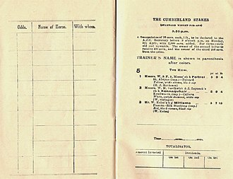 Poitrel - Image: 1920 AJC Cumberland Stakes Racebook P2