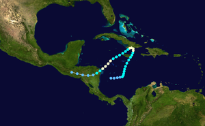 1935 Jérémie hurricane - Image: 1935 Atlantic hurricane 6 track