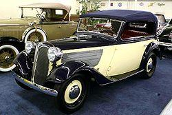 1936 BMW Model 319 4-Window Cabriolet