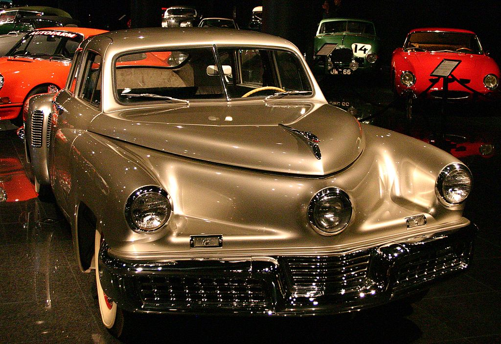 the 1948 tucker torpedo essay This restored, low-mileage 1948 tucker 48 torpedo sedan sold for $1,017,500 at rm's sports & classics of monterey sale on august 16, 2008 it's a record price for a tucker and well over the pre-auction estimate of $500k-$600.