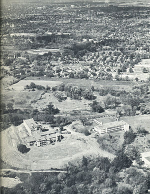 Bellarmine University - Aerial view of Bellarmine University in 1954