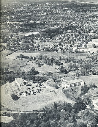 Bellarmine University - Aerial view of Bellarmine University in 1954