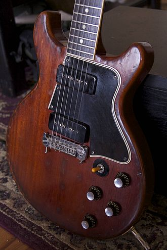 "Gibson Les Paul Doublecut - 1960 SG Special  renamed from ""Les Paul Special Doublecut"" in the late 1959, due to the discontinuation of Les Paul affiliation."