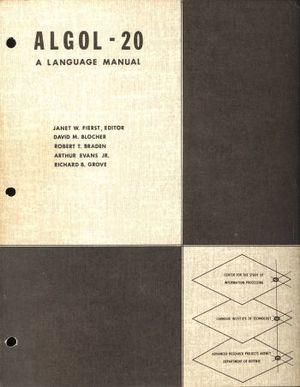 1965 ALGOL-20 A Language Manual, Fierst et al - cover.jpg