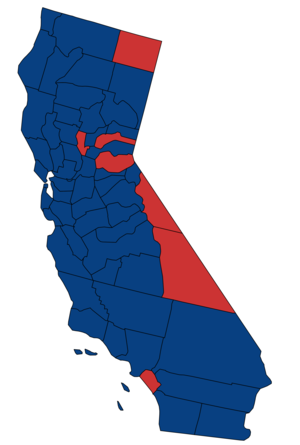 United States Senate election in California, 1980 - Image: 1980 California Senate Counties