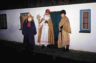 Saint Nicholas Day - St. Nicholas and his companions in Haunzenbergersöll, Bavaria (1986)