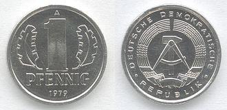 Pfennig - Image: 1 Pfennig DDR 1979