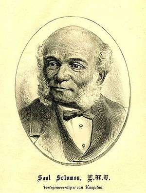 Cape Argus - Saul Solomon, liberal parliamentarian and founder of the Cape Argus.