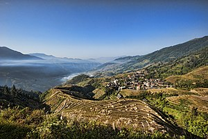 Zhuang people - Ping An, a Zhuang village in the Longsheng Rice Terrace
