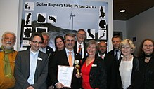 2. SolarSuperState Prize 2017 category Wind for Sweden with Swedisch energy minister Ibrahim Baylan