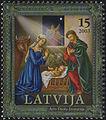 20031122 15sant Latvia Postage Stamp A.jpg