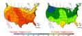 2005-09-04 Color Max-min Temperature Map NOAA.png