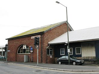 Paignton railway station - The old goods shed is now used as the ticket office.