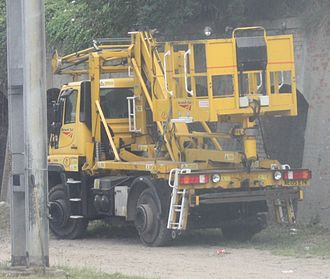 Network Rail - Unimog bucket truck.