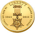 2011 MoH coin - gold uncirculated obverse.jpg