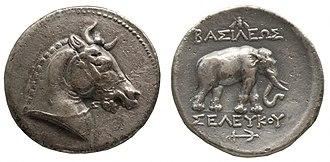 Attalid dynasty - Image: 201209071746a Berlin Pergamonmuseum, Tetradrachme Seleukos' I, Silber, Pergamon, 281 280 v.u.Z