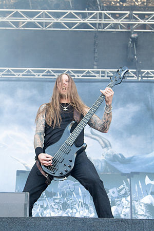 Amon Amarth - Ted Lundström at Nova Rock 2014