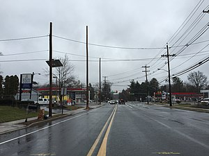 Ewingville, New Jersey - The main intersection in Ewingville as it appeared in 2016