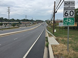 Maryland Route 60 - View north from the south end of MD 60