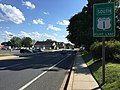 2017-06-02 17 18 40 View west along Maryland State Route 922 (Churchville Road) at U.S. Route 1 Business southbound and Maryland State Route 924 southbound (Bond Street) in Bel Air, Harford County, Maryland.jpg