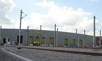 British Rail Class 345 - The new depot built for class 345s at Old Oak Common