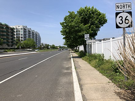 Route 36 in Long Branch 2018-05-25 14 05 35 View north along New Jersey State Route 36 (Ocean Boulevard) at Joline Avenue in Long Branch, Monmouth County, New Jersey.jpg