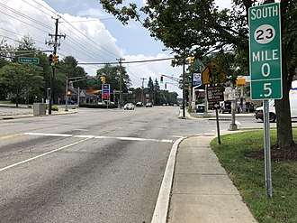 Verona, New Jersey - Route 23 southbound in Verona