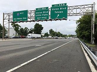 Totowa, New Jersey - I-80 westbound in Totowa