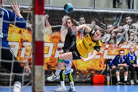Laura Klinger at the ÖHB-Cup Finals UHC Stockerau vs. St. Pölten