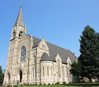 Sacred Heart Cathedral (Davenport, Iowa) - Image: 2018 Sacred Heart Cathedral Davenport, Iowa 04