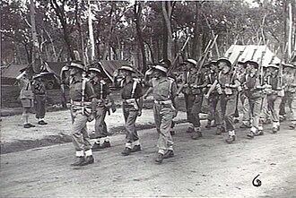 2/11th Commando Squadron (Australia) - The 2/11th Commando Squadron marches past the Duke of Gloucester at Ravenshoe, Queensland, 14 February 1945