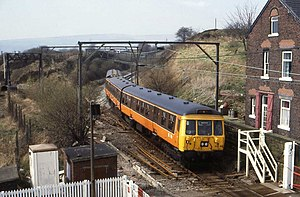 British Rail Class 303 - A Class 303 in service at Dinting in Greater Manchester PTE livery