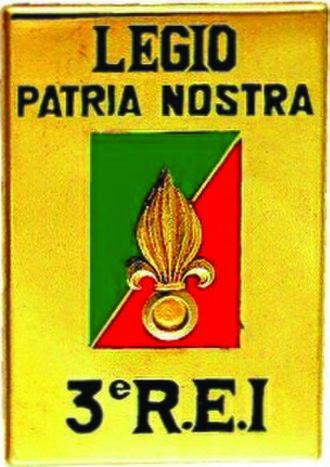 3rd Foreign Infantry Regiment - Regimental badge of 3ème REI