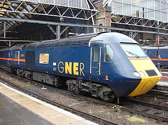 Passenger rail franchising in Great Britain - After franchising: a GNER operated train on the InterCity East Coast franchise