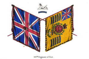 44th (East Essex) Regiment of Foot - Colours of the 44th Regiment of Foot