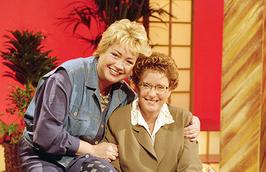 Presentatrices Viola Holt & Catherine Keyl in 1991