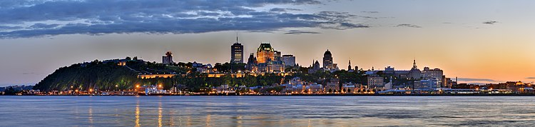 Panorama of Quebec City's skyline