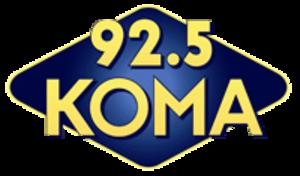 KOMA (FM) - Image: 925 KOMA Oklahoma's Greatest Hits