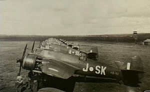 No. 93 Squadron Beaufighter aircraft at Kingaroy, Queensland, in 1945