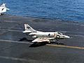 A-4C of VA-112 landing on USS Kitty Hawk (CVA-63) c1968.jpg