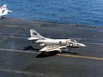 A-4C of VA-112 landing on USS Kitty Hawk (CVA-63) c1968.jpg