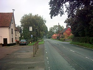 A144 road - The A144 at Stone Street, Spexhall