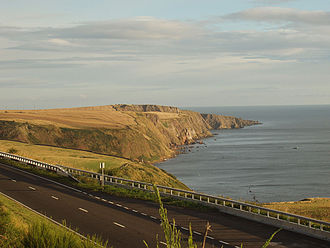A1 road (Great Britain) - A single carriageway section of the A1 skirting the Scottish coastline just across the border from Northumberland.