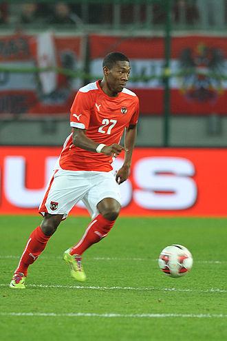 David Alaba - Alaba playing for Austria in 2014