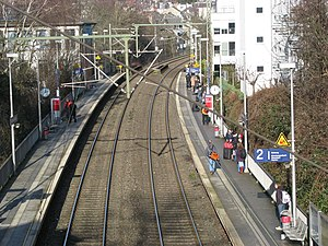 Aachen Schanz station - Platform for northbound trains
