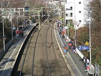 Aachen Schanz station - Platform for northbound trains
