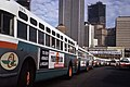 AC Transit Old and New Look buses, San Francisco Transbay Terminal ACT157 (11177836234).jpg