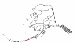 Location of Akutan, Alaska