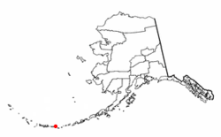 Location of Atka, Alaska